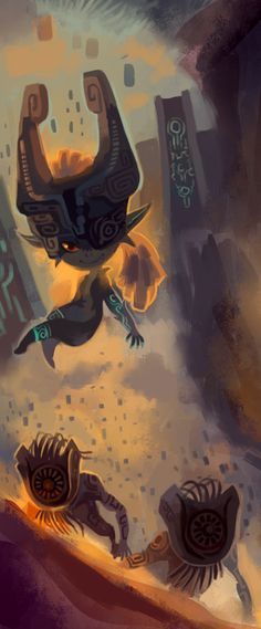 Midna and some Shadow Beasts - The Legend of Zelda: Twilight Princess
