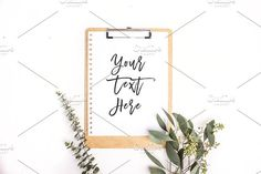 Clipboard Mock-up | Stock Photos  by Design Love Co.  - free file week beginning 2nd January
