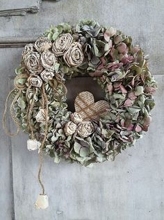 Dried Flower Wreaths, Wreaths And Garlands, Fall Wreaths, Door Wreaths, Dried Flowers, Christmas Wreaths, Flower Garland Wedding, Flower Garlands, Flower Decorations