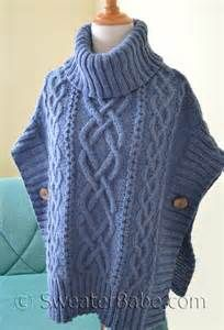 poncho knitting patterns - Bing images