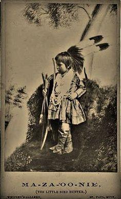 Ma-za-oo-nie (aka Little Bird Hunter) - Winnebago - 1862