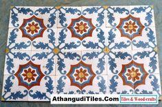 Com - Athangudi Tiles - Tile Designs Room Wall Tiles, Indian Crafts, Indian Homes, Tile Design, Wood Crafts, Tile Floor, Sweet Home, Flooring, Quilts