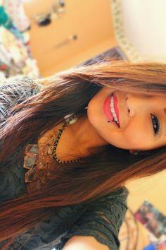 Omg want the lip piercing so bad ahaha