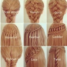 Nine ways to braid or twist your hair!