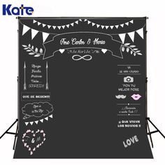 Kate Wedding Backdrops Blackboard for Photo Studio Wedding Background Photography Customise size made fotostudio photocall Cheap Backdrop, Diy Backdrop, Backdrop Stand, Party Photography, Photography Backdrops, Photo Signature, Pose, Wedding Background, Backdrop Background