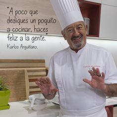 """""""A poco que dediques un poquito a cocinar, haces feliz a la gente."""""""