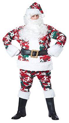 California Costume Menu0027s Camo Santa Clause Suit Full Costume (L/XL)  sc 1 st  Pinterest & 61 best Christmas Costumes for Santa Mrs. Claus u0026 the Elves images ...