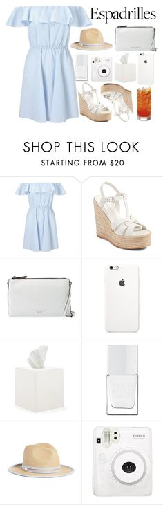 """""""step into summer : espadrilles"""" by a-hidden-secret ❤ liked on Polyvore featuring Miss Selfridge, Yves Saint Laurent, Marc Jacobs, Waterworks, The Hand & Foot Spa and Draper James"""
