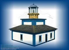 Maqueta de Papel del Faro de Illa Pancha construido en 1859