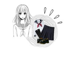 """School Uniform ♡"" by bangtandust ❤ liked on Polyvore featuring art"