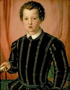Agnolo Bronzino-Portrail of Giovanni de' Medici, 1550~1551, Tempera oil on panel, 66.2 X 52.8 cm, Ashmolean Museum of Art and Archaeology- University of Oxford (UK- Oxford)
