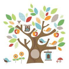 Skip Hop Tree Top Friends Wall Stickers
