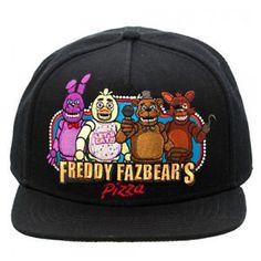 Authentic Five Nights at Freddy s Fazbear s Pizza Flat Bill Snapback Hat New | eBay
