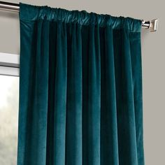 These Deep Sea Teal Heritage Plush Velvet Curtains will give any room an elegant yet stylish feel. Half Price Drapes offers a modern twist on velvet drapes at an unbeatable price. Room Darkening Curtains, Bedroom Curtains, Teal Walls, Teal Bedroom Accents, Dark Teal Curtains, Magenta Bedrooms, Dark Teal Bedroom, Teal Accents, Romantic Bedroom Decor