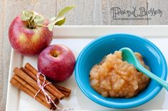 {Fall harvest recipes} Perfect homemade applesauce done in the microwave! I can't wait for apple picking time so we can stock up on this for our freezer!