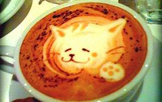 Kitty Cat Coffee Art Design // Creative 3D Coffee Latte Art Pictures, Images & Designs