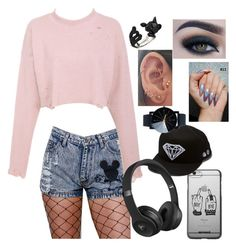 """""""cat"""" by jxxmll on Polyvore featuring Diamond Supply Co., Beats by Dr. Dre and Too Faced Cosmetics"""