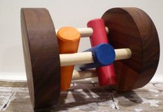 Toy Tumbler Roller Floor Toy for Baby or Pet by McCoyToys on Etsy Rustic Toys, Baby Dogs, Wood Toys, Walnut Wood, Tumbler, Flooring, Cat, Trending Outfits, Handmade Gifts