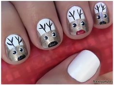 CUTE CHRISTMAS NAIL ART - Reny styles