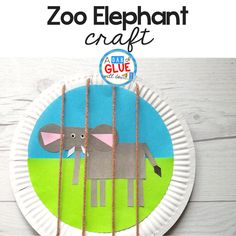 Teach shapes and letters with this fun zoo elephant craft for kids. #craftsforkids #kidscrafts #shapecrafts