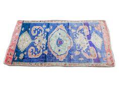 Cobalt purple Turkish rug 3x5 kitchen mat bathroom rug boho - Etsy - Pencil Shavings Studio - oushak mat - vintage turkish rug Boho Bathroom, Bathroom Rugs, Bathroom Small, Bathroom Ideas, Bohemian Decor, Bohemian Interior, Natural Fiber Rugs, Kitchen Mat, Jute Rug