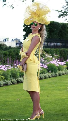 Ray of sunshine: A lady dressed in a chic daffodil coloured ensemble