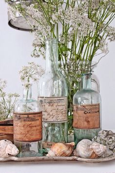 Love the apothecary bottles.