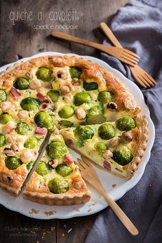 Quiche ai cavoletti, speck e nocciole - Brussels sprouts, and hazelnut quiche