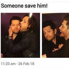 Jared licked him the first time, so he was cautious with Jensen.