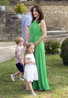 In celebration of his birthday Prince Consort, Prince Henrik and the Danish Royal family gather at his ancestral vineyard in Caix, France for a birthday photocall June 11, 2014: Crown Princess Mary, Prince Vincent and Princess Josephine