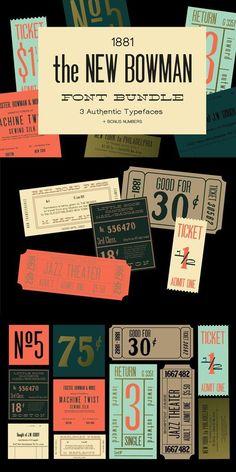 New Bowman Font Bundle (+ webfonts) Book Design, Web Design, Packaging Design, Branding Design, Graphic Design Brochure, Magazine Layout Design, Vintage Lettering, Book Layout, Brand Guidelines