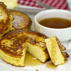 OMM Coconut Flour French Toast. At less than 5 carbs per HEALTHY portion use unsweetened maple syrup.