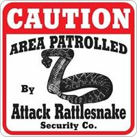Attack Rattlesnake Sign: Our Attack Rattlesnake Sign will look great outdoors or indoors. Made from… #PetProducts #PetGifts #AnimalJewelry