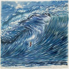 "Raymond Pettibon.   No Title (The bright flatness).   2003.   Watercolor on paper, 39 x 38 1/2"" (99.1 x 97.8 cm)."