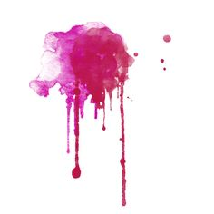 Watercolor Drips ❤ liked on Polyvore featuring fillers, splashes, effects, watercolor and art