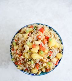 Pineapple Cashew Fried Rice - healthy and delicious! I howsweeteats.com