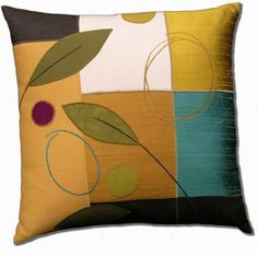 Turquoise Square: Susan Hill: Fiber Pillows   Artful Home