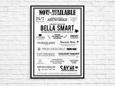 B Smart Designs, Freelance graphic designer advertising poster design by B Smart Designs  www.bsmartdesigns.com