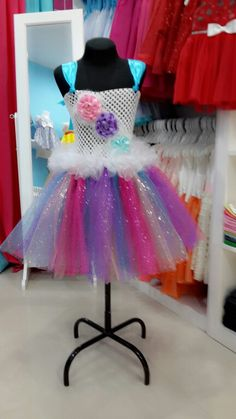 Pastel flowers tutu dress FB:Raya's Closet