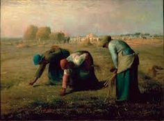 The Gleaners c. 1857 Artist: Millet Period: Realism Millet was a member of the Barbizon school of painting, painted rural towns. shows the nobility of the poor, the nobility of hard work. Seen by the public as a socialist painting. Google Art Project, Musée D'orsay Paris, Paris France, Paris Louvre, Millet The Gleaners, Millet Paintings, Art Paintings, French Paintings, Paintings Famous