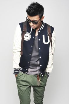 Varsity jacket. #style #fashion #men