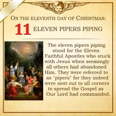Eleventh day of Christmas meaning.