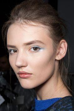 Silvery blue eye shadow at Emporio Armani