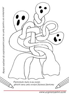 Desen cu fantome incalcite