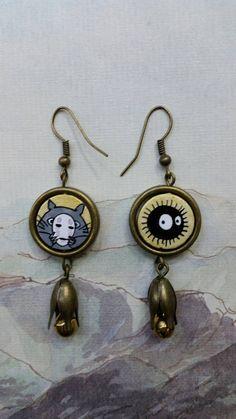 Guarda questo articolo nel mio negozio Etsy https://www.etsy.com/it/listing/478063740/orecchini-dipinti-totoro-e-nerino