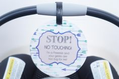 Remember that little preemies are more susceptible to germs and infections due to their premature entrance into this world. Protect them with a sign to help keep the germs away