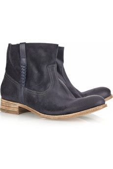 Navy Sunday suede ankle boot by N.D.C.