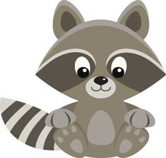 I'm working on a set of raccoon clip art, or maybe it will be a set of forest animals . But in the meantime, here's a sweet little raccoon freebie