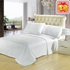 #checkitout Luxury Checkerd #Quilted Wrinkle Free Microfiber 3 Piece Coverlets Set * This coverlet set is made from 110 gsm microfiber and comes in 5 modern #colo...