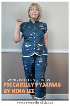 Piccadilly Pyjamas PJs by Nina Lee – Pinterest Graphic by Sarah Smith (Sew Sarah Smith)